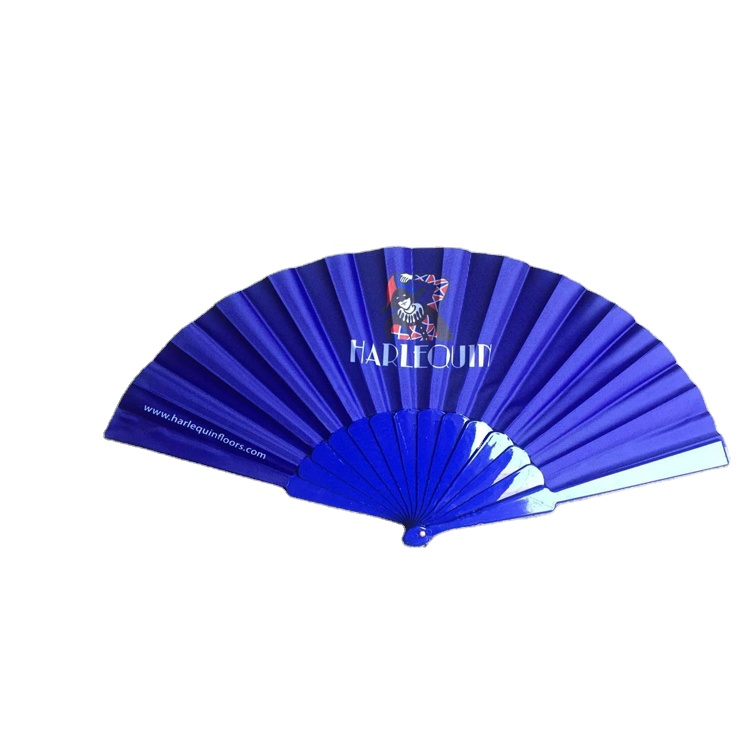 Customized logo foldable plastic paper hand fan